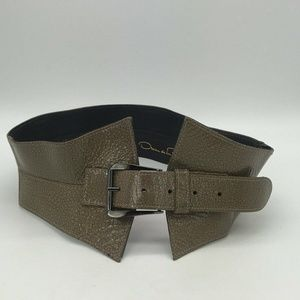 Oscar de la Renta Grey Belt Size Small